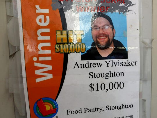 Andrew Ylvisaker, pictured here on a sign at the Food