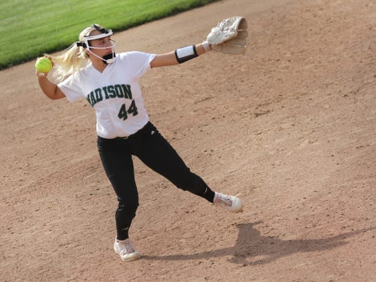 Madison's Julia Litt makes the move to short stop for the 2019 season and will be looked at as a team leader during her junior season.