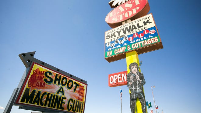 Bullets and Burgers at Arizona Last Stop in White Hills was the site of a fatal shooting in 2014 when a 9-year-old girl accidentally shot her instructor in the head with an Uzi.