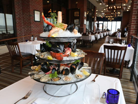 The Signature shellfish tower at Blu Pointe on Front