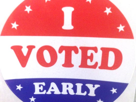 Early Voting Sticker Stock