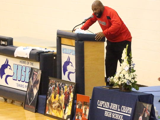 Chapin basketball coach Rodney Lewis announced the