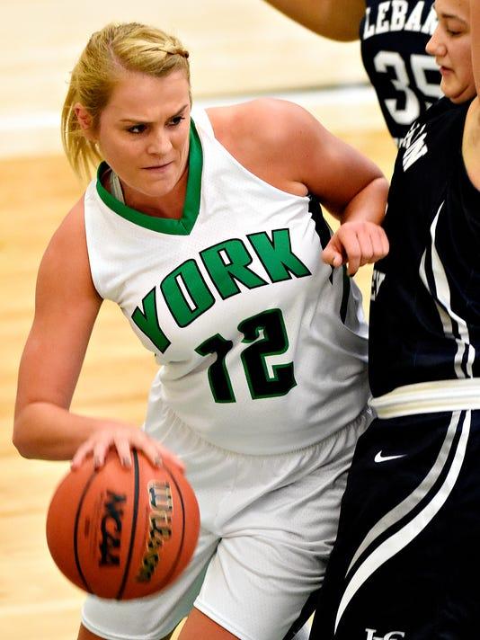 York College vs Lebanon Valley women's basketball