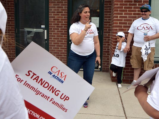 Immigrants protest Wagner stance