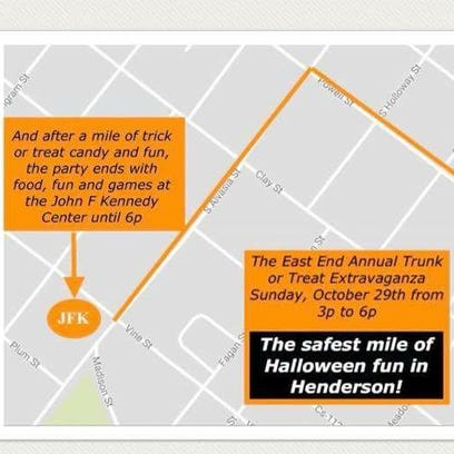 Groups join forces for combined Halloween trunk or treat trail