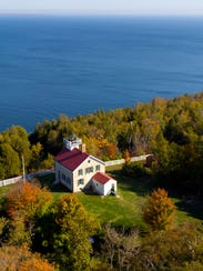 Pottawatomie Lighthouse on Rock Island is Wisconsin's