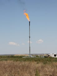 In Eddy County, flaring, which occurs during the producing