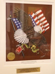 """The """"American Eagle in the Pacific"""" reprint was donated"""