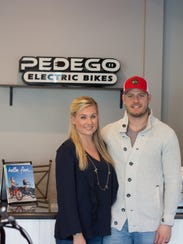 Pedego co-owner Adam Levine, pictured with his wife,