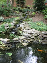 A water feature on the property of Richard and Shawn