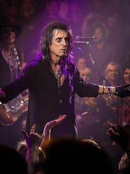 Hollywood Vampires perform during Alice Cooper Christmas
