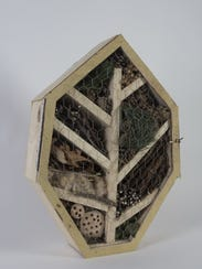 It's cozy and fragrant. A bug hotel in the shape of