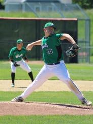 Seton Catholic Central's Mason Vaughan, seen here pitching