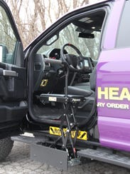 The truck has been adapted to help injured veterans
