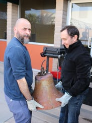 Brad Konick, art installationist, and Gary Martelli,