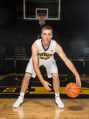 Iowa's Connor McCaffery during media day at Carver