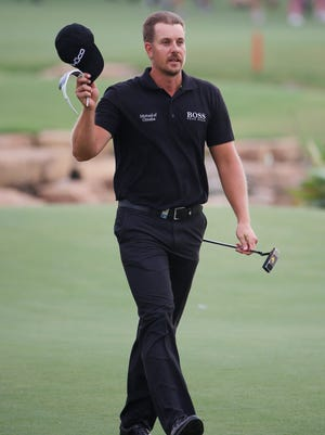 Henrik Stenson claimed the World Tour Championship title on Sunday.