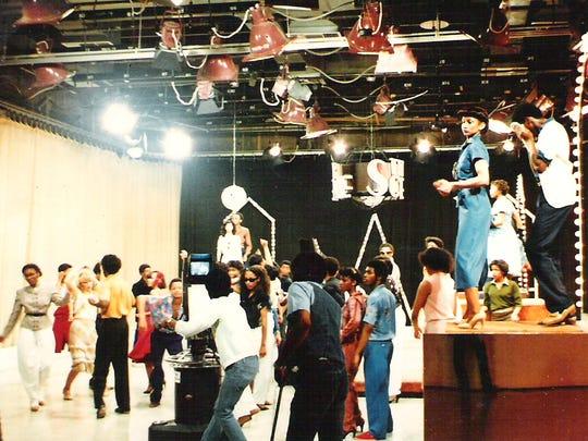 "A scene from Detroit TV dance show ""The Scene."""