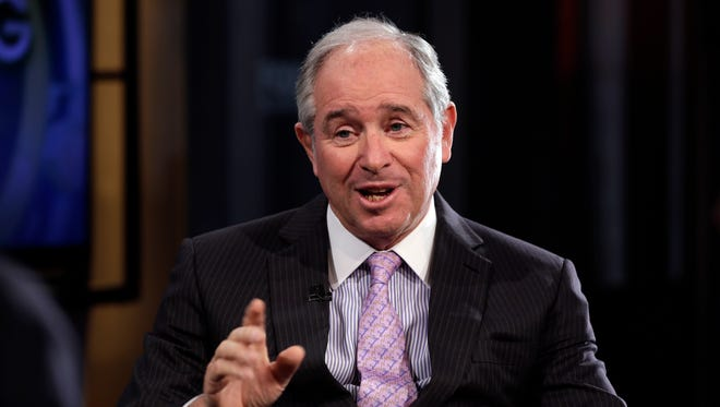"""Blackstone Group CEO Stephen Schwarzman is interviewed by Maria Bartiromo during her """"Opening Bell with Maria Bartiromo"""" program, on the Fox Business Network, in New York, Thursday, Feb. 27, 2014.NYRD106"""