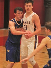 Campbell County senior Reid Jolly posts up during Campbell