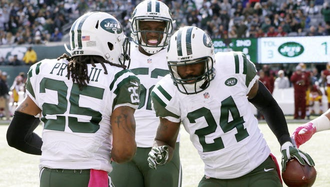 Darrelle Revis celebrates, but knows there is work ahead.