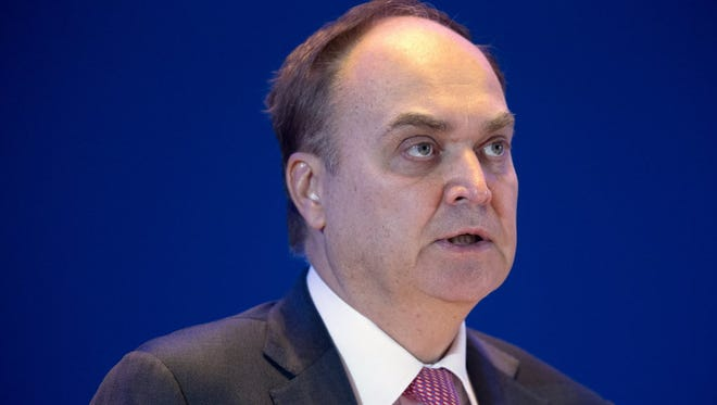 Russia's Deputy Minister of Defense Anatoly Antonov speaks at the Xiangshan Forum, a gathering of the region's security officials, in Beijing, on Oct. 17.