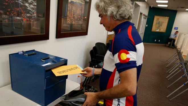 Voting in Boulder, Colo., in June 2016.