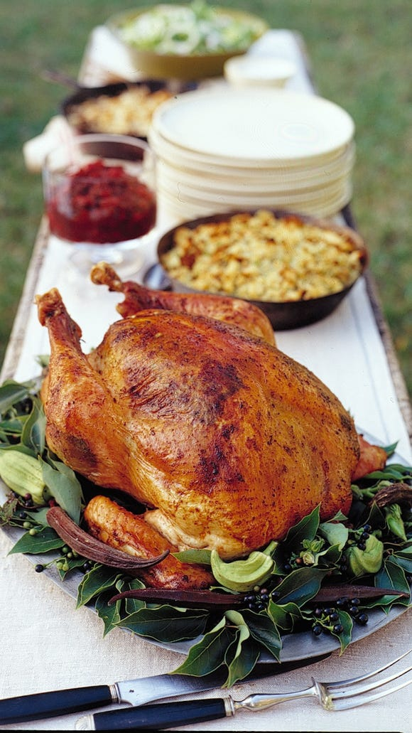 Herb-roasted turkey with pan gravy, as seen in 'Martha