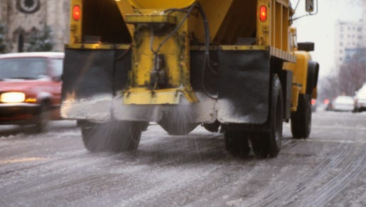Motorists should avoid city of Lansing salt trucks on roads in the city today, officials said.