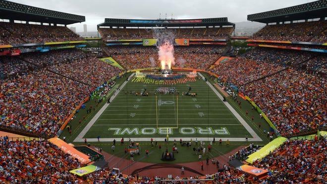 View of the 2014 Pro Bowl at Aloha Stadium.