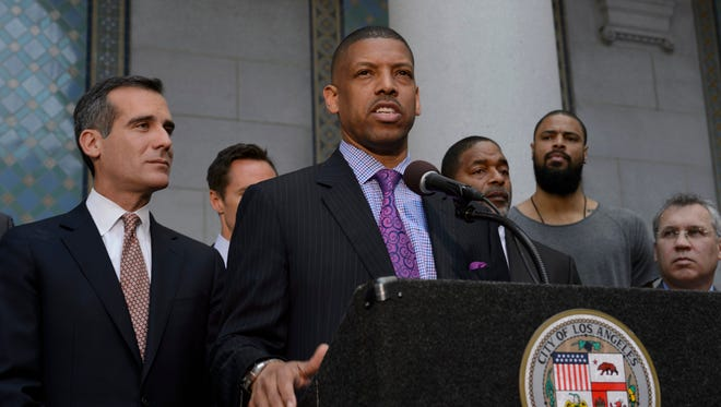 Kevin Johnson responds on behalf of the NBPA regarding Los Angeles Clippers owner Donald Sterling 's comments and ban for life from the NBA.