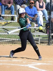 Parkside's Autumn Smith hits the ball against Pocomoke