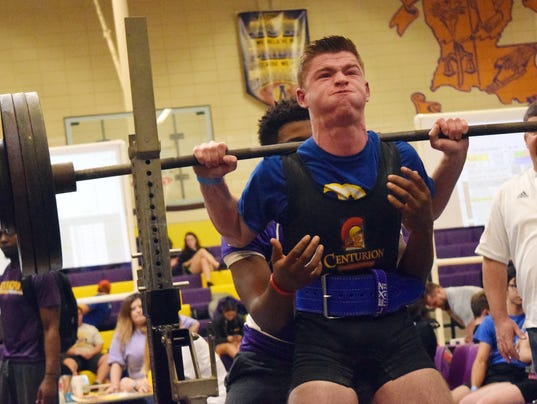 Buckeye High School's Colton Pruitt competes in the Alexandria Senior High School Invitationals held Saturday.