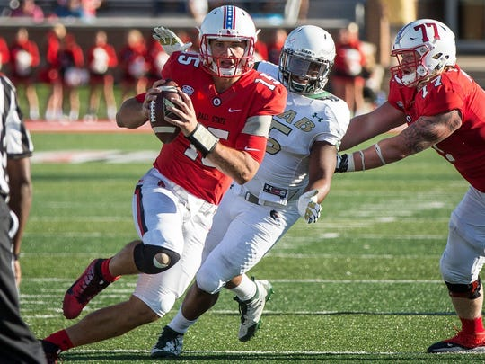 Ball State quarterback Riley Neal is fully healthy and back at spring practice.