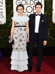 Keira Knightley, left, and James Righton arrive at the 72nd annual Golden Globe Awards at the Beverly Hilton Hotel on Sunday, Jan. 11, 2015, in Beverly Hills, Calif. (Photo by Jordan Strauss/Invision/AP)