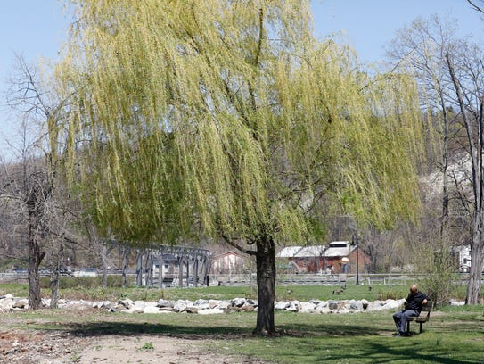 People enjoy the warm weather, a welcome respite from