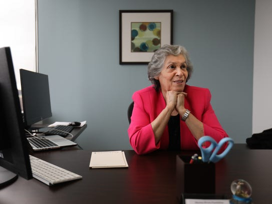 Naomi Gandia, executive director of the Mariano Rivera Foundation, in her Stanton office.