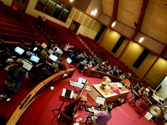 The Wichita Falls Community Orchestra rehearses for
