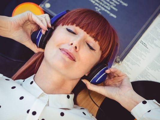 Listening to music stream in headphones