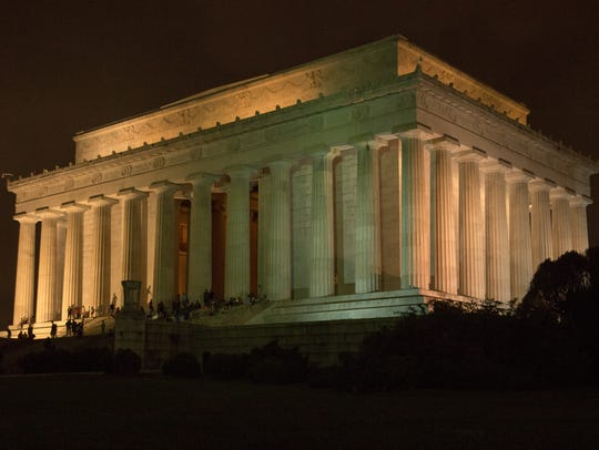 The Lincoln Memorial, with its 58 steps and 36 fluted