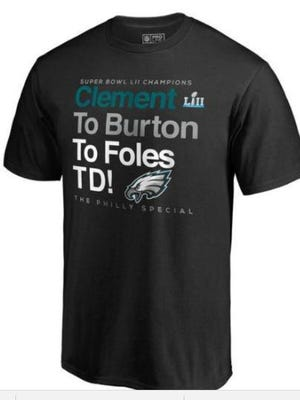 """The Philadelphia Eagles included this t-shirt as part of an application for trademark protection for the phrase """"Philly Special."""""""