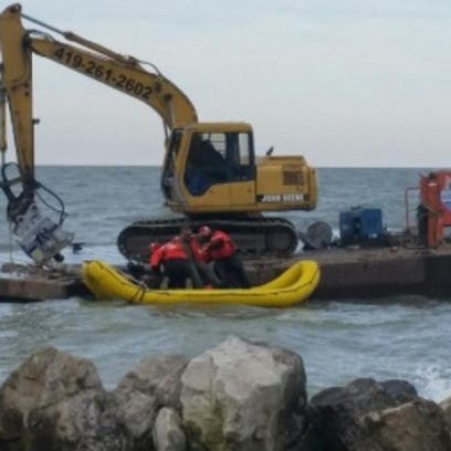 An injured worker was rescued by a crew from the Coast