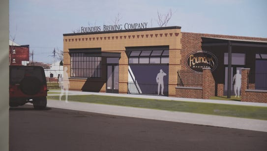 This is an artist rendering of the new Founders taproom