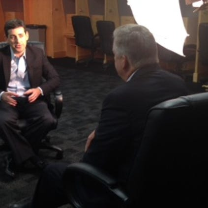Rays Matt Silverman talks with 10 News Sports Anchor