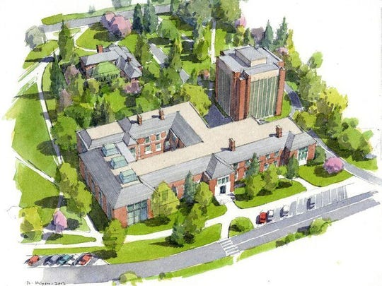 An artist's rendering of the new MSU Music Pavilion, which will be under contruction in October.