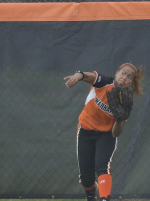 AUM freshman center fielder Therese Byrne has made key contributions for the Warhawks.