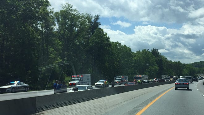A multiple vehicle accident occurred on Interstate 26 on May 3.