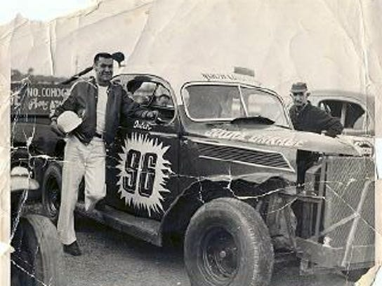 Dutch Hoag (left) and Earl Kern at Naples Speedway