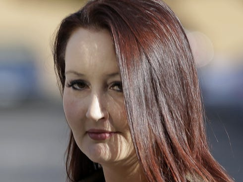 Gypsy Willis, the 37-year-old mistress of Martin MacNeill, arrives at courin Provo, Utah.