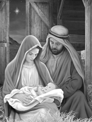 Mary, Joseph, and Baby Jesus.  Merry Christmas!
